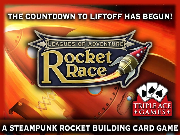 Build-Race-Win! Construct amazing moon rockets from an array of weird science devices in this fast paced card game for 2-6 players.