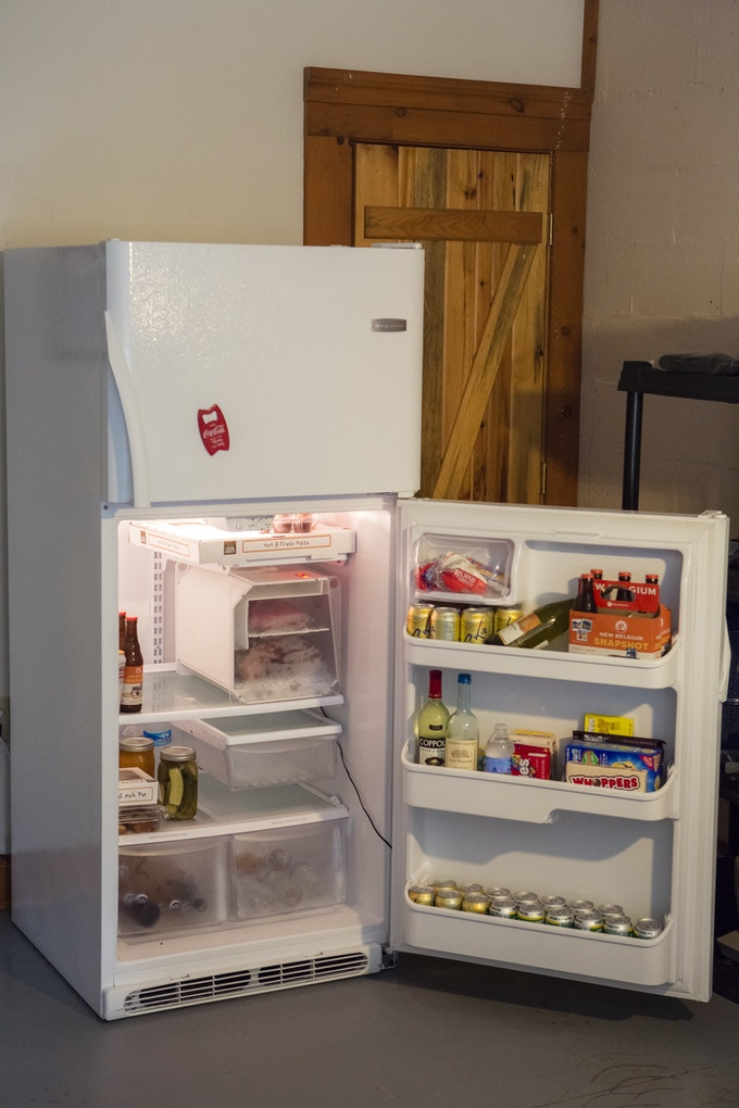 The SteakAger takes up less than 20% of your fridge space and looks great doing it.  This is my garage fridge (Ok beer fridge)