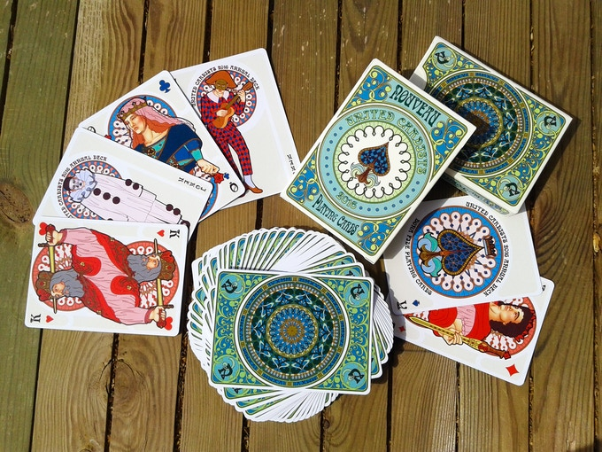 nouveau playing cards  united cardists 2016 annual deck