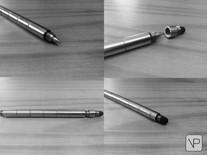 The stylus accessory fits on both ends & acts as a pen cap