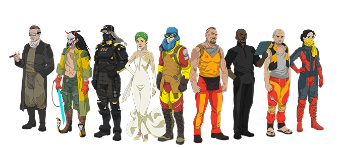 The main cast of VERONA.