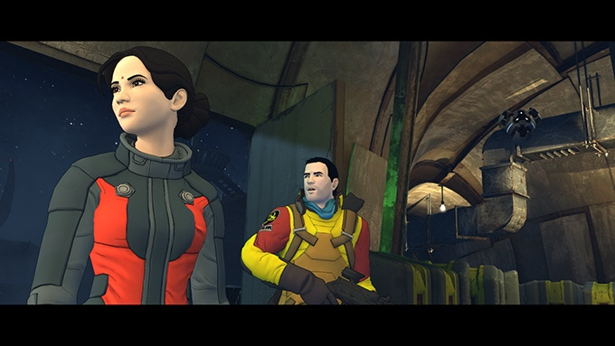 Cutscene example shot from the pre-alpha build of the game.