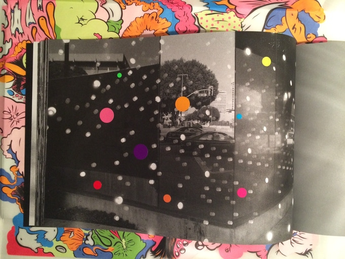 For £90 – A unique edition of Jason Evans's 'NYLPT', a book of double-exposed photographs. Evans created sticker drawings on one image in 80 copies. Published by MACK.