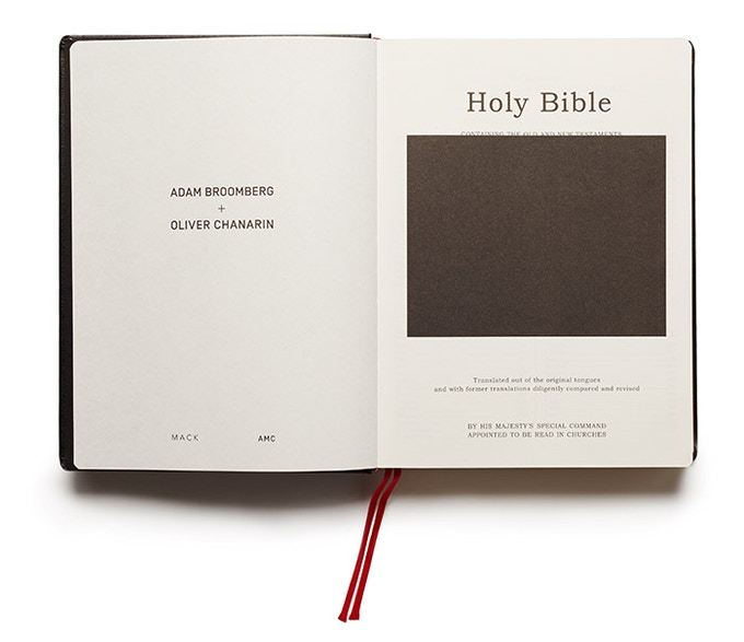 For £50 – Broomberg + Charain's 'Holy Bible', an artist book with the physical form of the King James Version, but overlaid with photographs on every spread, selected from the Archive of Modern Conflict.
