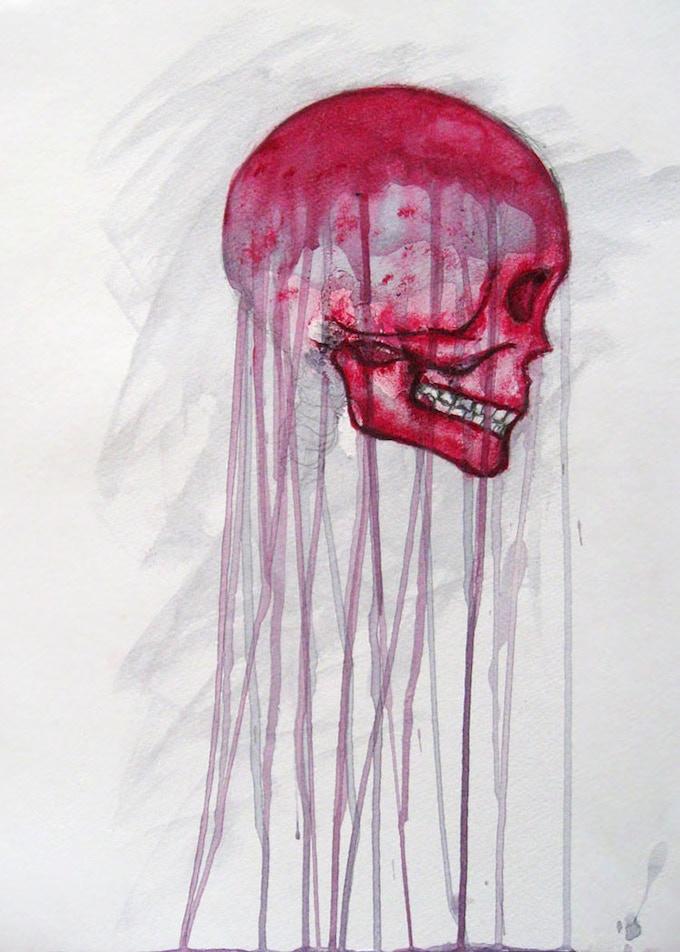 Jelly Skull 5x7