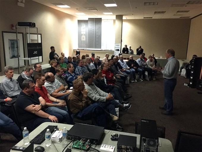 An after hours seminar at AXPONA 2015