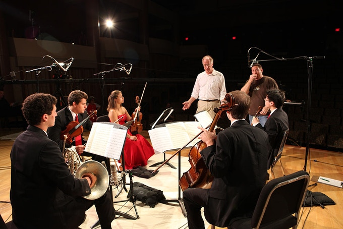 Recording the Old City String Quartet In Zipper Hall