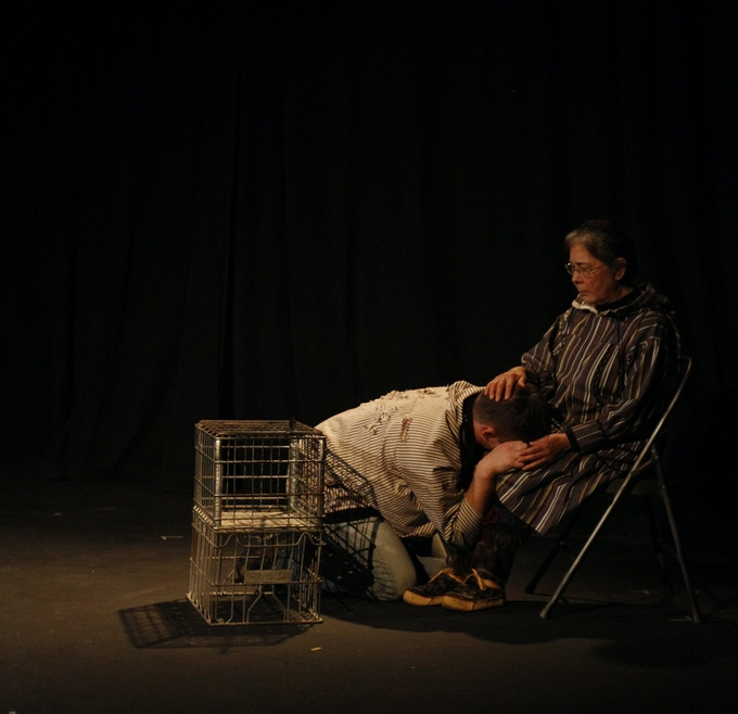 Elder and Michael (Martha Jack & Jesse Meissner), from the 2013 production at Out North in Anchorage, Alaska.