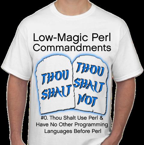 RPerl T-Shirt, Commandment Zero