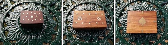 Box 1 - Box 2 - Box 3. With inlay designs.