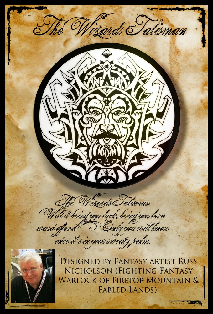 """Close up of the """"Wizards Talisman"""""""
