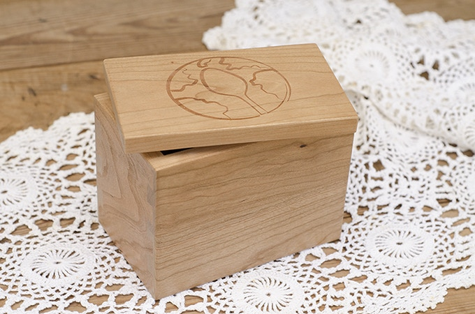 Handcrafted Dovetail Recipe Box with Project STIR Recipe Cards