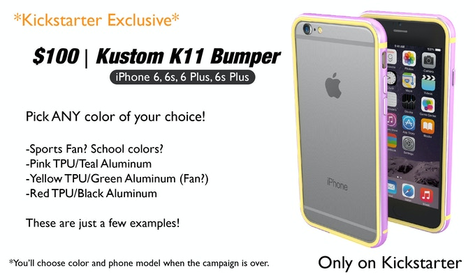 innovative design a13bd ae2d6 K11 Bumper | iPhone 6, 6s, 6 Plus and 6s Plus by ThanoTech Inc ...