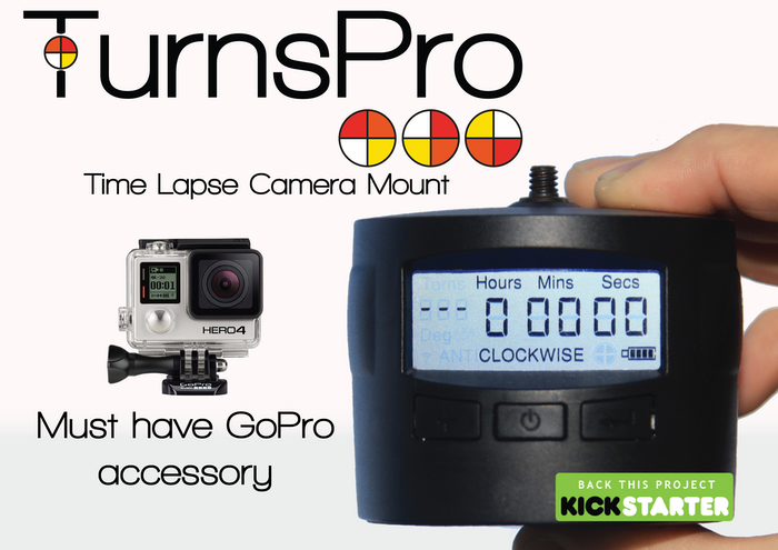 TurnsPro   Timelapse Camera Mount to create panning time lapse videos or movies with your phone, DSLR or GoPro! Simple.Intuitive