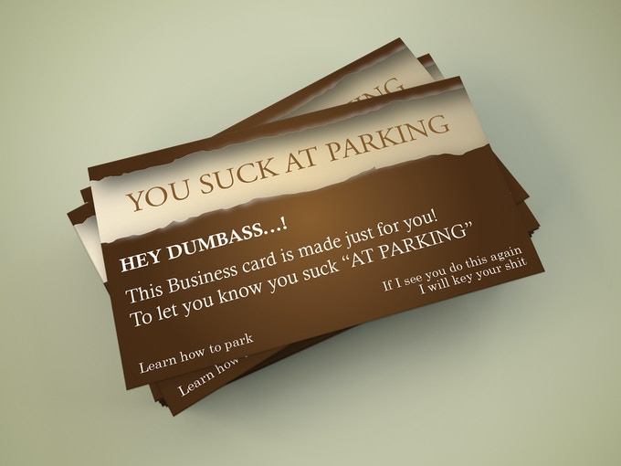 Bad parking business cards by leoprism kickstarter brown option colourmoves