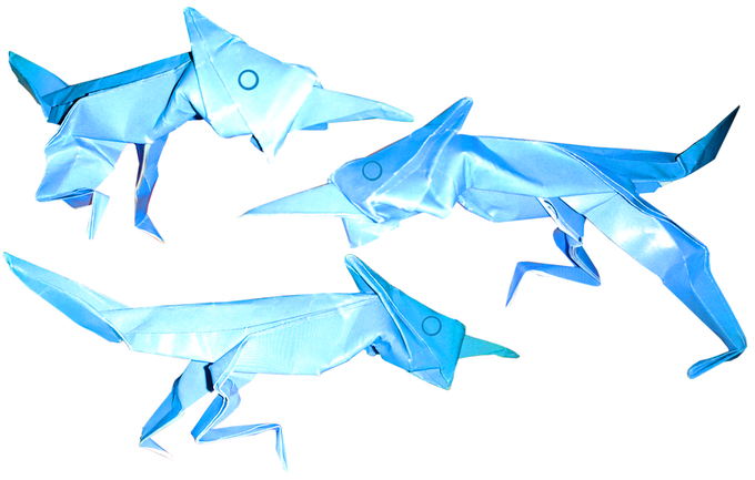 Origami Roadrunners