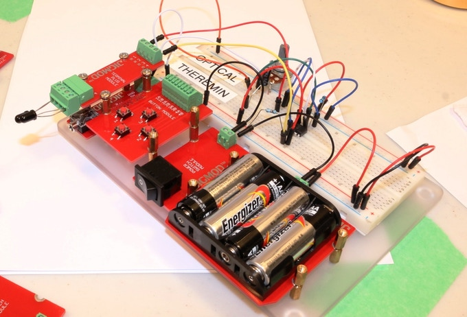 Optical Theremin - Make Music by Waving your Hands using JIGMOD M Platform