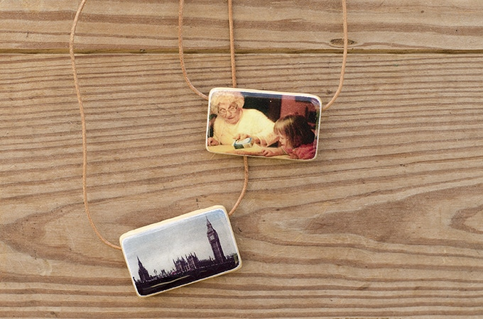 Custom Photo Necklace with Your Travel or Family Memory