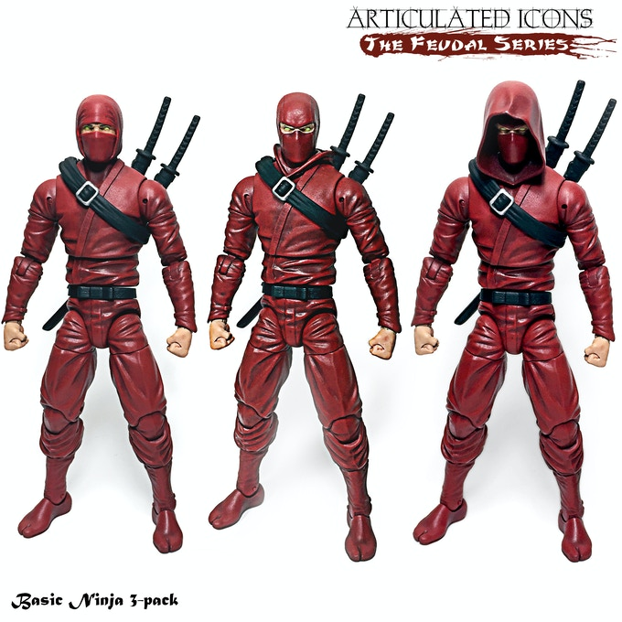 Articulated Icons The Feudal Series Ninja Action