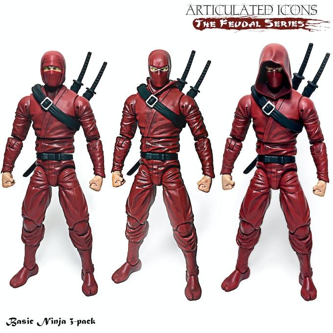 Basic Ninja 3-pack (red)