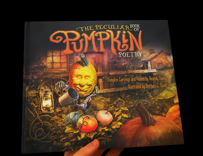 Mock-Up of The Peculiar Book of Pumpkin Poetry