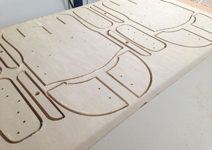 Wooden parts milling / Fraisage des pièces de bois