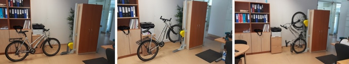 Mechanical bicycle lift for parking bicycles