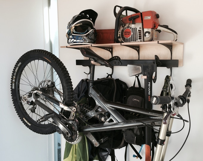 Double D Rack with bike and axe