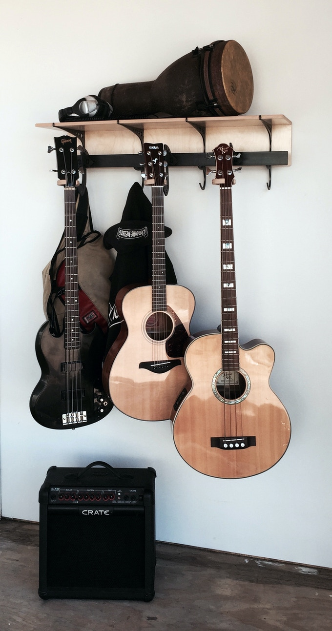 Double D Rack with guitar arm