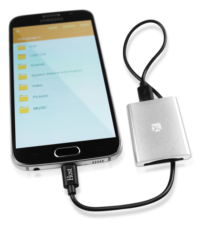 Works with Android smartphones via MicroUSB OTG cable.