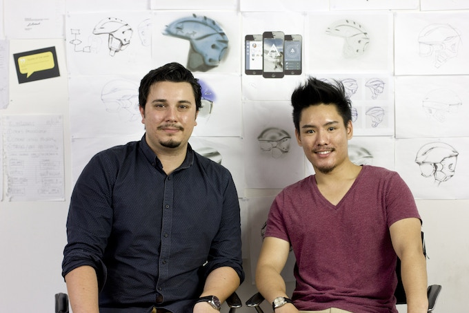 Co-founders Alfred Boyadgis and Julian Chow during Mo-vember.