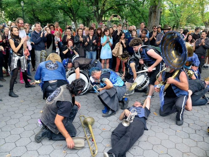 Chaotic Noise in Tompkins Square Park, HONK NYC! 2014