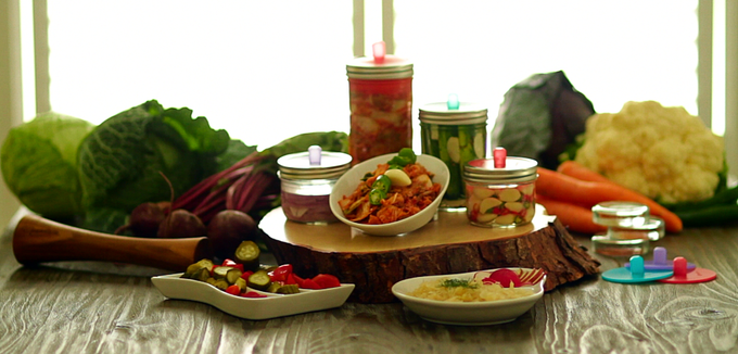 Real pickles, kimchi, and sauerkraut.