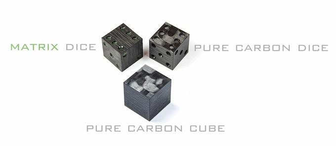 MATRIX dice vs. pure carbon dice vs. pure carbon cube