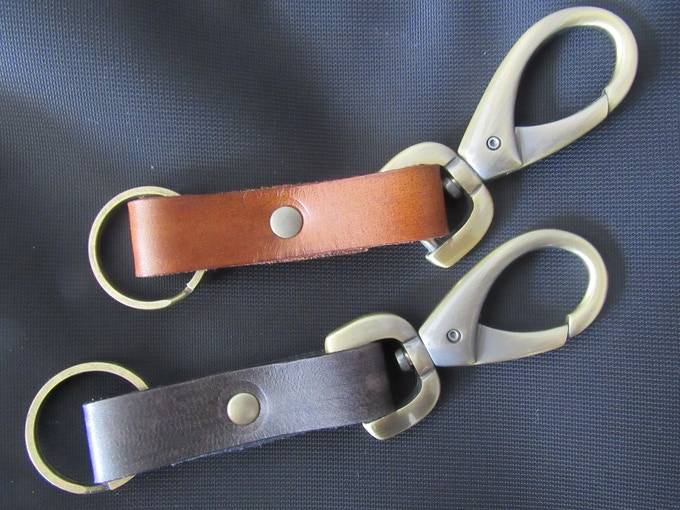 Veg-Tanned Leather Keyfobs