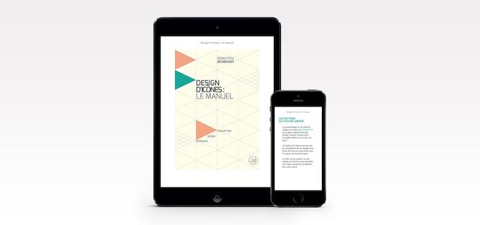 """Aperçu de l'ebook """"Design d'icônes : le manuel"""""""