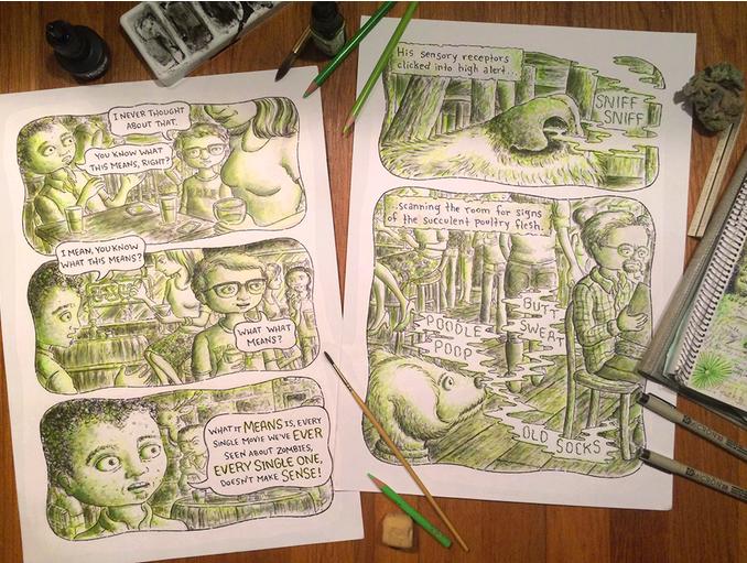 A few pages of original art