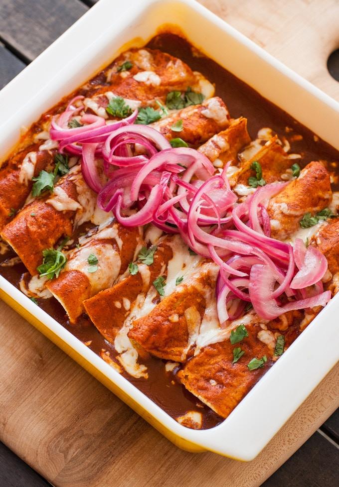 Shortcut Chicken Enchiladas