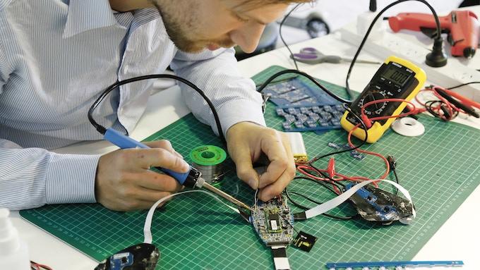 Working on Prototype Electronics
