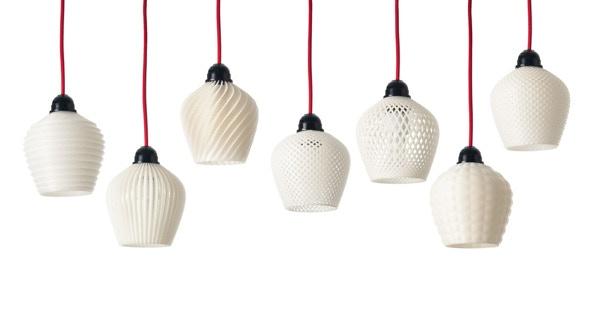 Dentelle 3D printed lamps