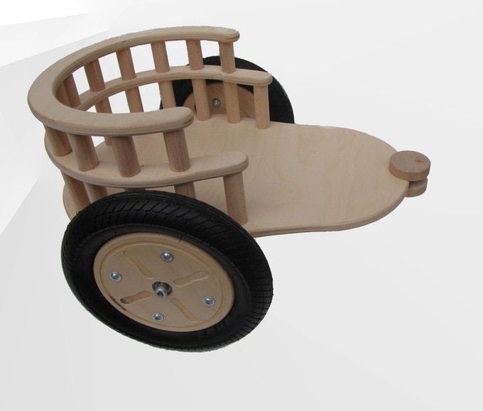 a detachable trailer for transporting toys
