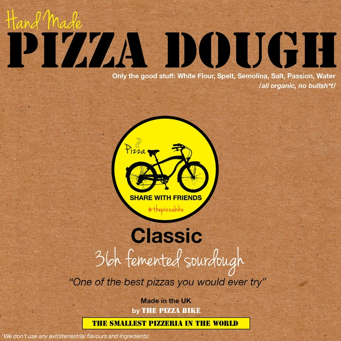 Sample design of the dough packaging