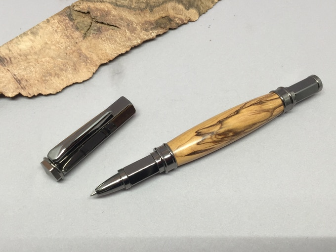 Magnetic Hex pen shown with cap removed
