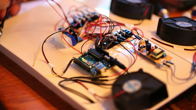We built the prototype using Arduino's.  We need your help to create printed circuit boards.