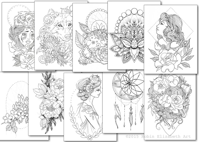 some of the drawings that will be in the book!