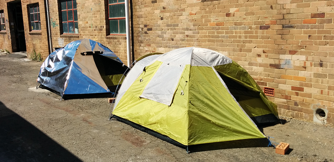 Comparing the first proof of concept to a regular tent