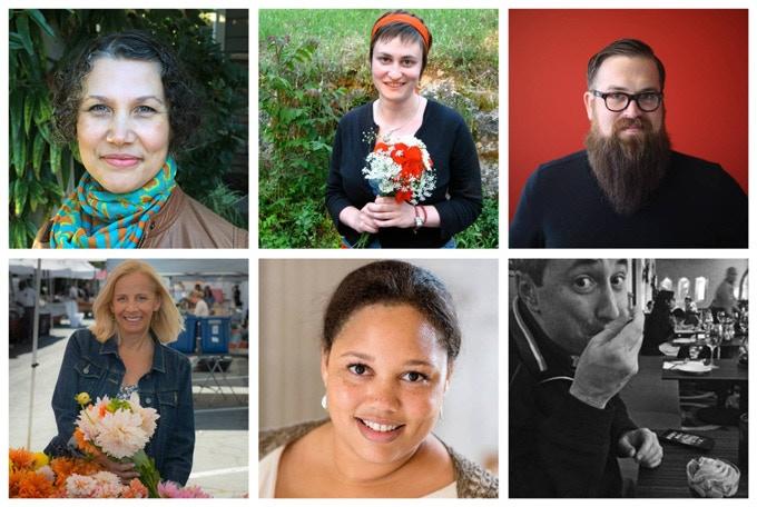 Top Row: Lorna Nakell, Poppy Milliken, Joe Stoltz; Bottom Row: Jodie Chase, Angela Lipscomb, Michael Strahs
