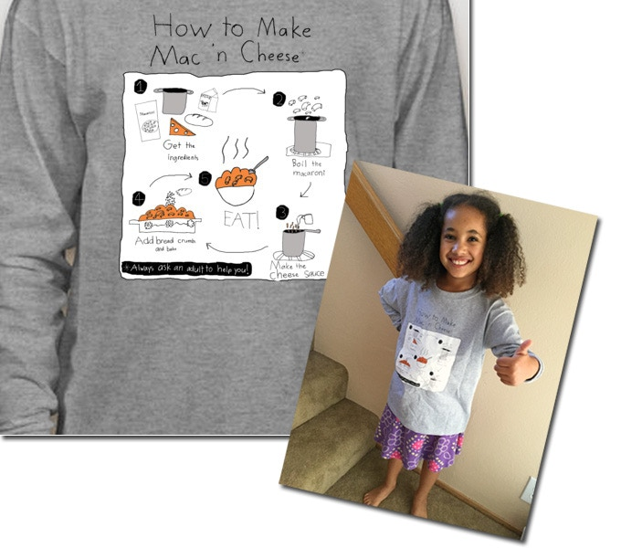 """""""How to Make Mac 'n Cheese"""", featuring my little designer"""