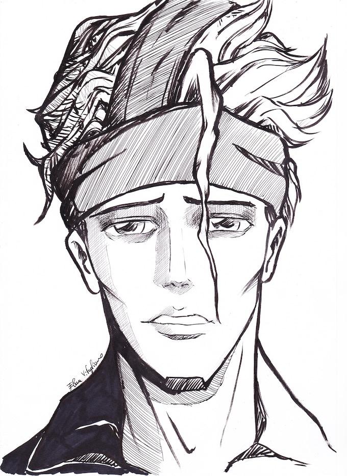 Pain Sketch by Elena Vitagliano