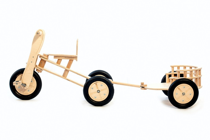 the combination of the detachable trailer and the trike